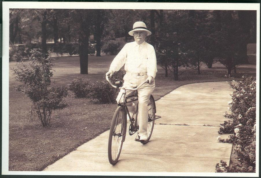 John Harvey Kellogg on his bike