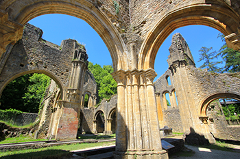 Orval Abbey ruins